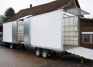 Leichtkoffer, Dach lichtdurchlässig (geeignet für Stückgut/Möbeltransport)