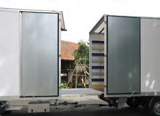 Fronttüren mit Überfahrblech
